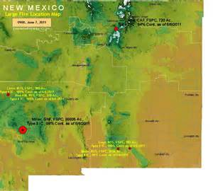 New Mexico Fire Location Map