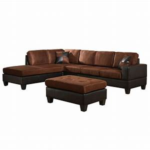 venetian worldwide dallin sectional sofa and ottoman With sectional sofa with left side chaise