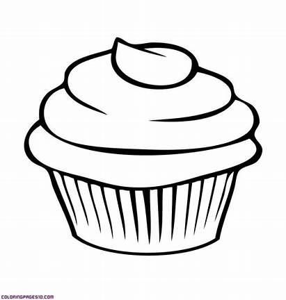 Coloring Pages Junk Cupcake Cake Printable Drawing
