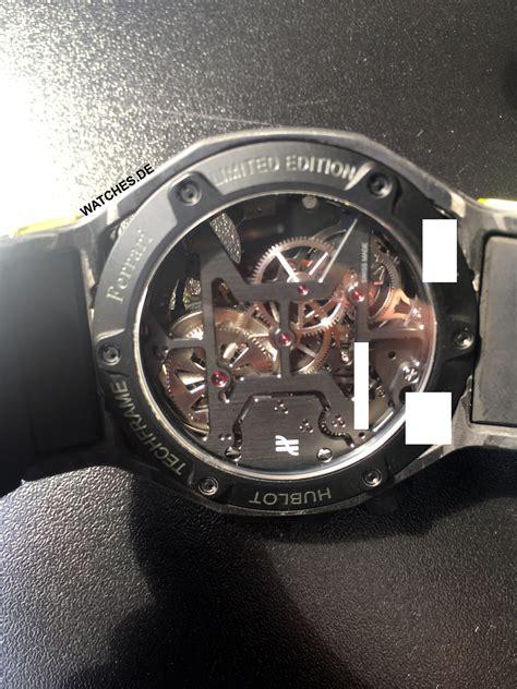 Safe favorite watches & buy your dream watch Hublot - Ferrari Techframe Chronograph Tourbillon Carbon Yellow - 408.QU.0129.RX | Luxury ...
