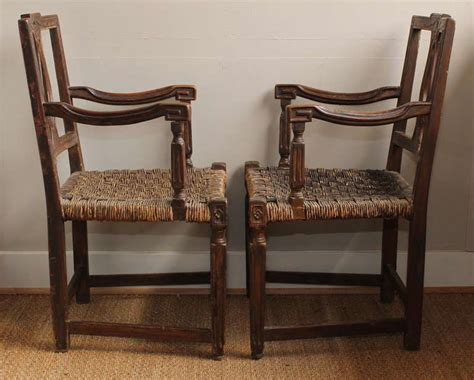 Pair Of Early 19th Century French Country Armchairs At 1stdibs