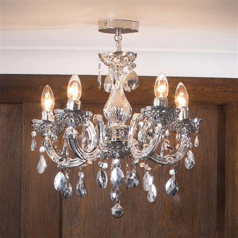What Is The Chandelier About by Therese Chandelier 5 Light Dual Mount Silver From