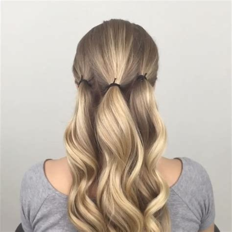Hair Style Updo Easy Easy Updo That Starts With Three Ponytails For Me