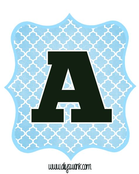 Print Letters Free by Blue And Black Printable Letters For Banners Diy Swank