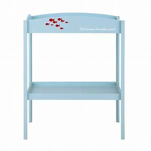 Table A Langer Maison Du Monde : table langer en bois bleue l 80 cm marin maisons du monde ~ Teatrodelosmanantiales.com Idées de Décoration