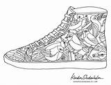 Coloring Pages Shoes Shoe Adult Printable Jordan Adults Kendra Shedenhelm Sheets Print Cool Books Coolest Curry Picks Coloringhome Templates Colouring sketch template