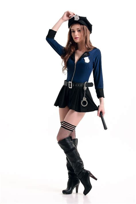 Free Shipping Hot Sale Cop Cosplay Dress Sexy Police Woman Uniform Women Sexy Halloween Costumes