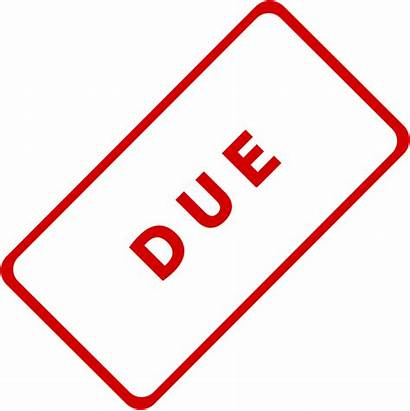 Due Clip Stamp Clipart Assignment Date Business