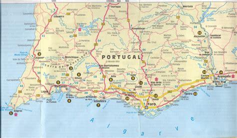 portugal westkueste karte kleve landkarte