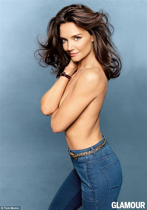 Katie Holmes Topless For Glamour Magazine Daily Mail Online