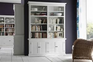 Türen Landhausstil Weiß : b cherschrank halifax im landhausstil wei mit 4 t ren von ~ Michelbontemps.com Haus und Dekorationen
