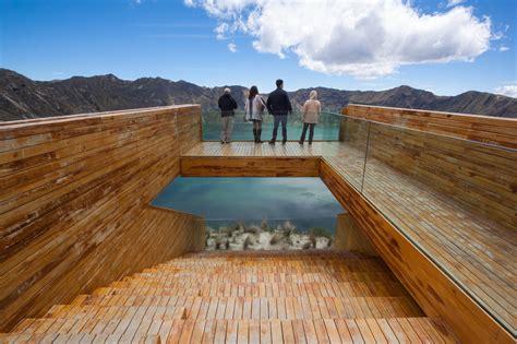 viewing deck design quilotoa crater overlook topos