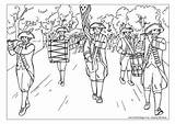 July Coloring Fourth Parade Colouring Adult 4th Band Marching Classroom Helpers Fox Independence Older Games Activityvillage sketch template