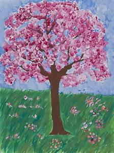 Rosa Blühender Baum Im Frühling : malerei farbaufhellung und farbtr bung bl hender baum ~ Lizthompson.info Haus und Dekorationen