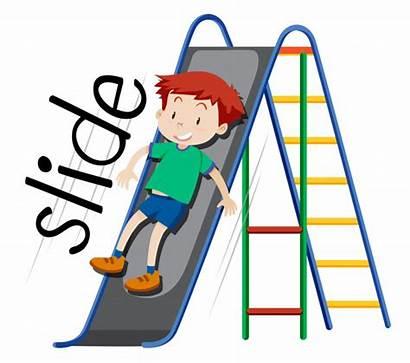 Slide Boy Playing Vector Vectors Clipart Freepik