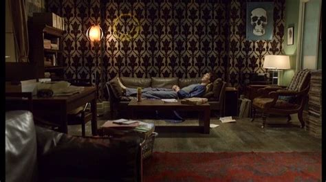 Sherlock Living Room Wallpaper by Sherlock Apartment Tv Apartment Envy