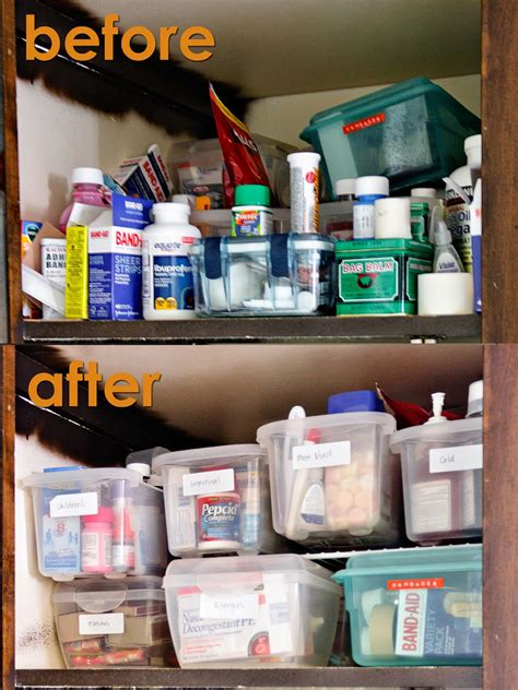 Craftastical Medicine And Cleaning Cabinet Organization