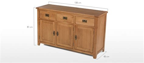 Large Sideboard Oak by Rustic Oak Large Sideboard Quercus Living