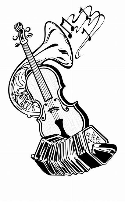 Instruments Musical Sketch Drawing Getdrawings Transparent Clipart