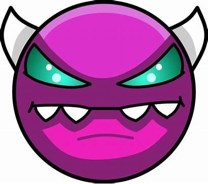 Demon Medium Geometry Dash Face Transparent Monster