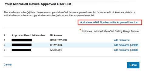 Add Users To At&t Microcell Wireless Network Extender