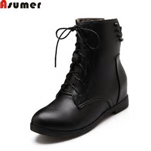 womens flat leather boots sale plus size 34 43 sale boots lace up flat pu leather toe rivets autumn winter