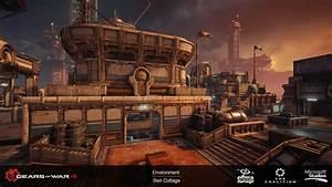 ArtStation Gears Of War 4 Lift Apex DLC Ben Cottage