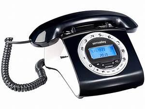 Simvalley schnurgebundenes retro festnetztelefon schwarz for Telefongespr che aufzeichnen festnetz