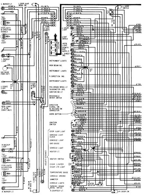 68 Chevy Wiring Schematic For by 1968 Chevrolet Corvette Wiring Diagram All About Wiring