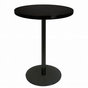 Table Haute Noire : table haute mange debout base ronde en acier peint noir avec plateau rond t220r one mobilier ~ Teatrodelosmanantiales.com Idées de Décoration