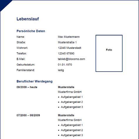 Vorlage Tabellarischer Lebenslauf Word by Lebenslauf Word Vorlage Newhairstylesformen2014
