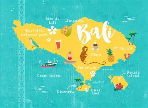 Carte Du Monde Voir Bali by Bali L 238 Le Aux 1000 Couleurs Carte De Bali Bali Et Cartes