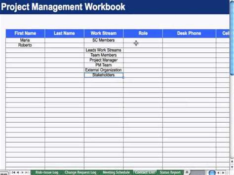 Project Management Contact List Template by 8 Contact List Project Management