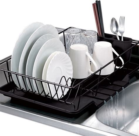mini strainer black 3 dish drainer set contemporary dish racks