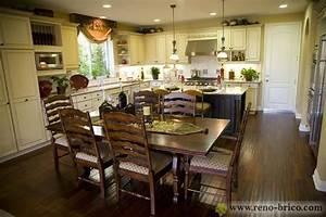decoration cuisine et salon aire ouverte With salon et cuisine aire ouverte