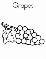 Grapes Coloring Pages Raisins Grape Printable Books Worksheets Template Spell Letter Adult Parentune sketch template
