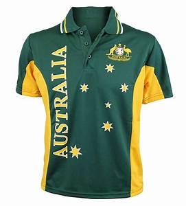 Australian Soccer Polo Shirt Australia the Gift