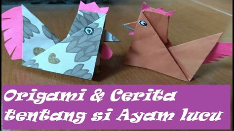 gimana  bikin origami ayam lucu  mudah easy