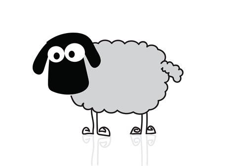 sheep cartoon symbol sign   vectors clipart