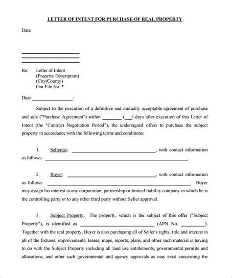 letter of intent real estate 10 real estate letter of intent templates pdf doc 7876
