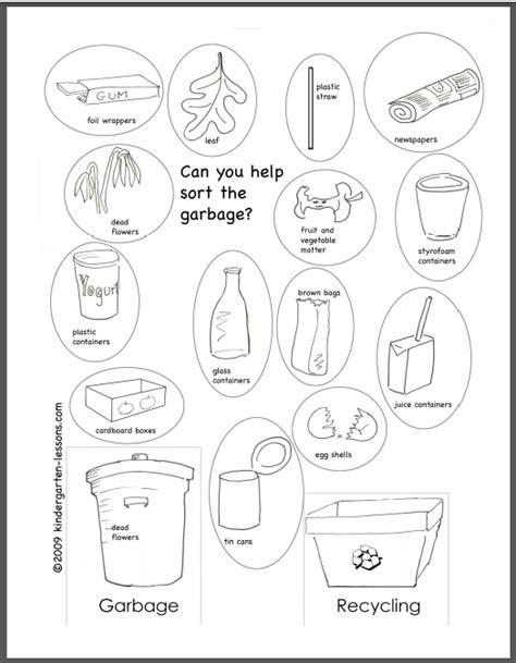 recycling  kids  kindergarten lessons