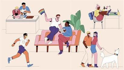 Pride Community Apple Virtual Illustration Goes Edition