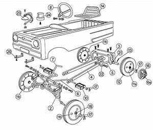 Pedal Car Parts  Amf Mustang Front Axle Assembly