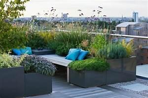Pflanzen Für Dachterrasse : eine dachterrasse gestalten neue fantastische ideen ~ Michelbontemps.com Haus und Dekorationen