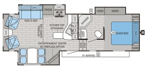 2015 Jayco 5th Wheel Floor Plans by 2015 Eagle Ht Fifth Wheels Floorplans Prices Jayco Inc