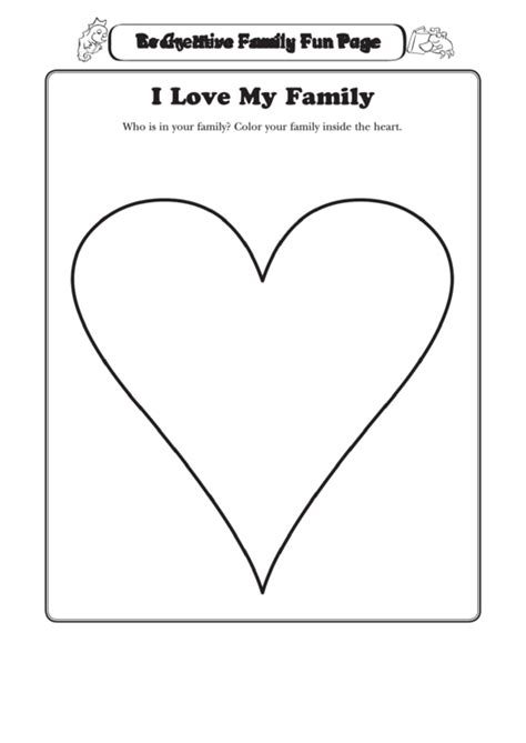 love  family heart coloring sheet printable