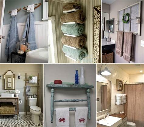 bathroom towel holder ideas 15 cool diy towel holder ideas for your bathroom