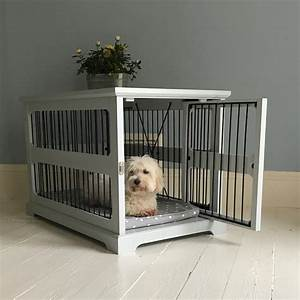 grey wooden crate with slide a side door from lords and With dog beds and crates