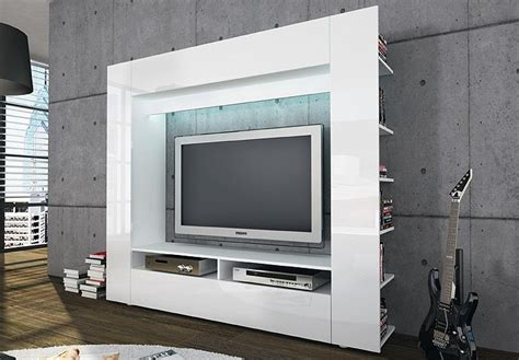 Wohnwand Tv Medienwand Anbauwand Olli In Weiß Front In
