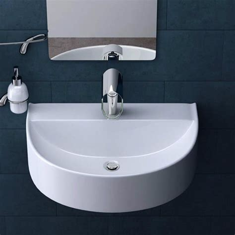 Ensuite Bathroom Sinks by Details About Basin Sink Bathroom Wall Hung Mounted